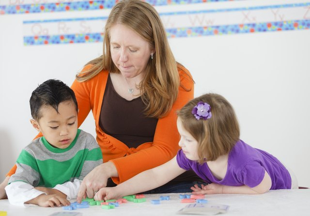 Preschool Children in a School Class