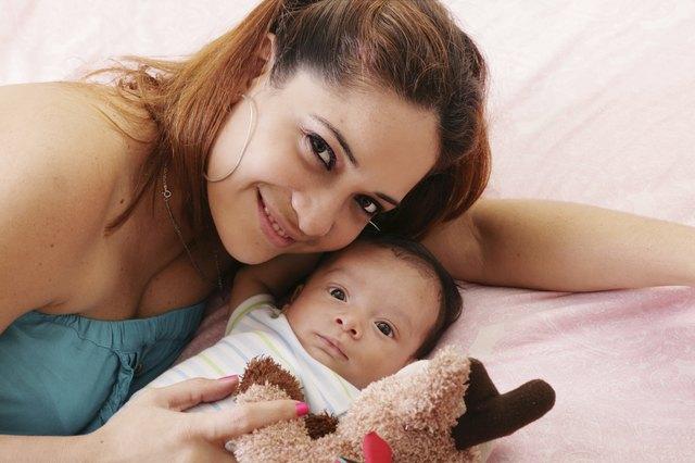 mum and baby boy smiling