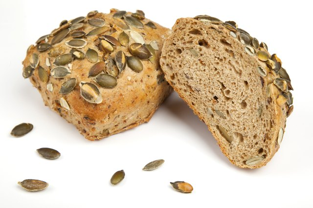 Roll breads with pumpkin seeds