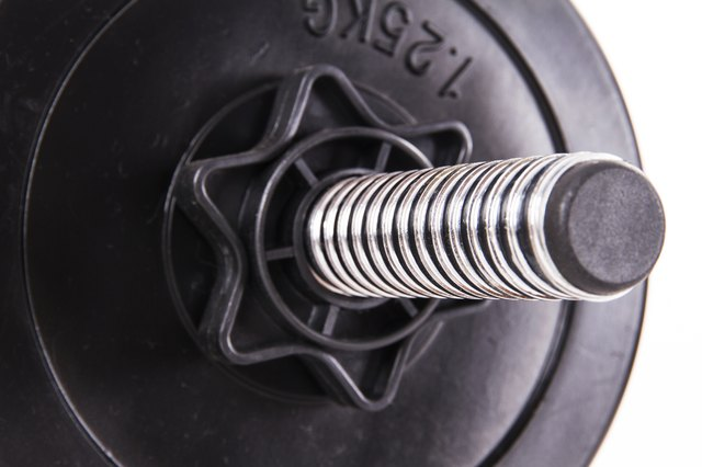 Black Gym Barbell