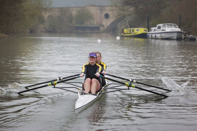 Double Sculling on the River Avon