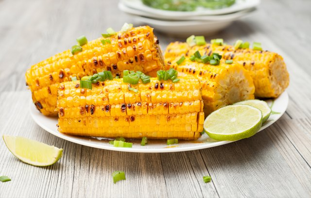 the cob cooked corn