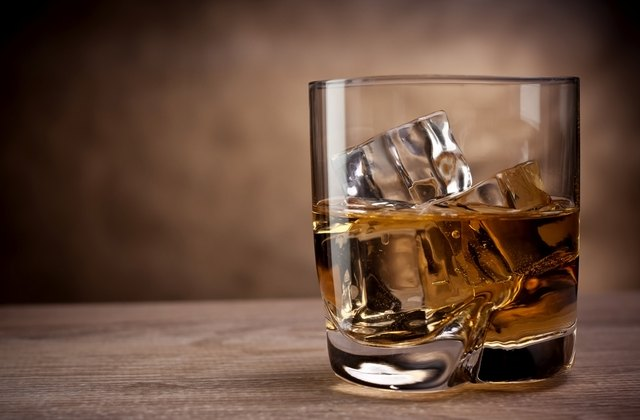 one glass of whisky