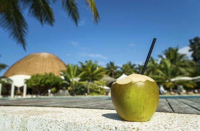 Coconut cocktail on the beach