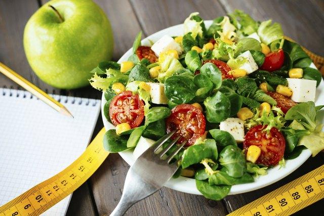 Healthy fitness green salad