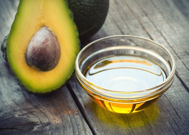 avocado oil in measuring cup