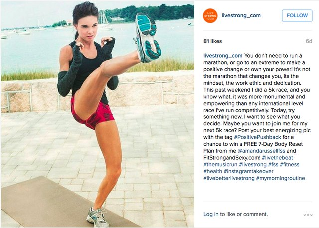 Amanda kickstarts her day with a workout.