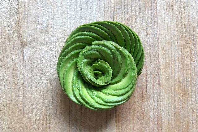 An avocado rose