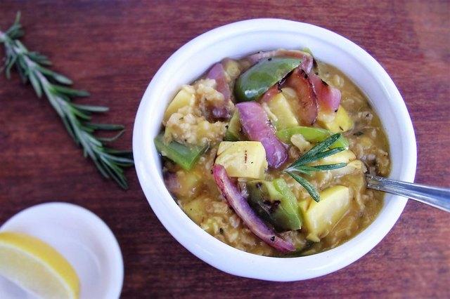 Creamy Grilled Vegetable Oatmeal Savory Oatmeal Recipe