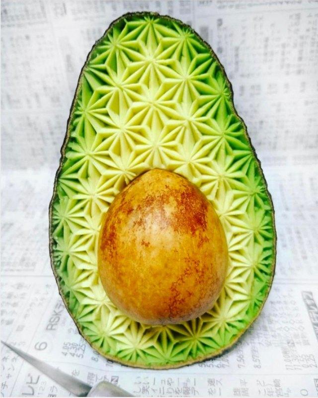 A Thai carved avocado