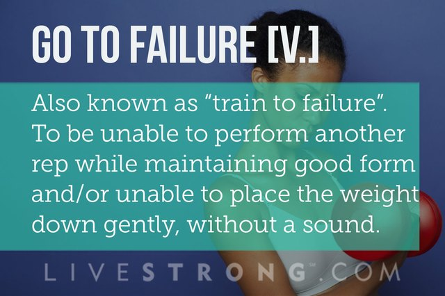 Definition of training to failure