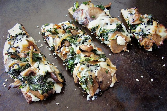 Kale and Wild Mushroom Flatbread Pizza