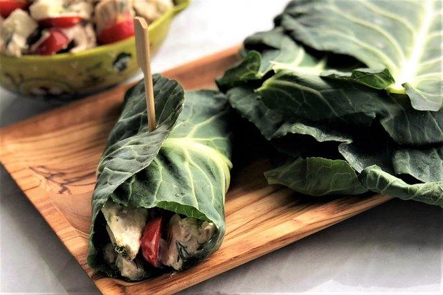 Tangy Tuna Salad in Collard Wrap