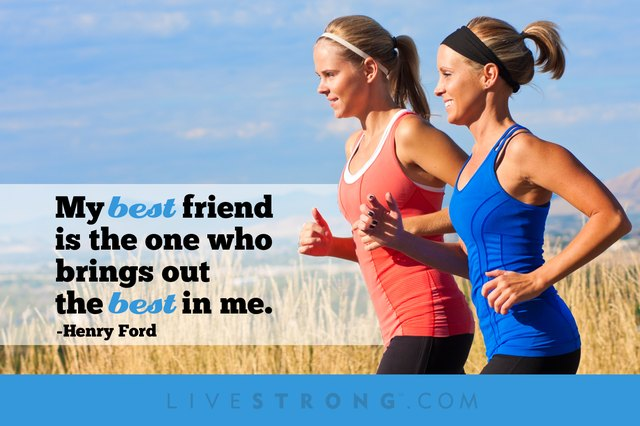 Women running together