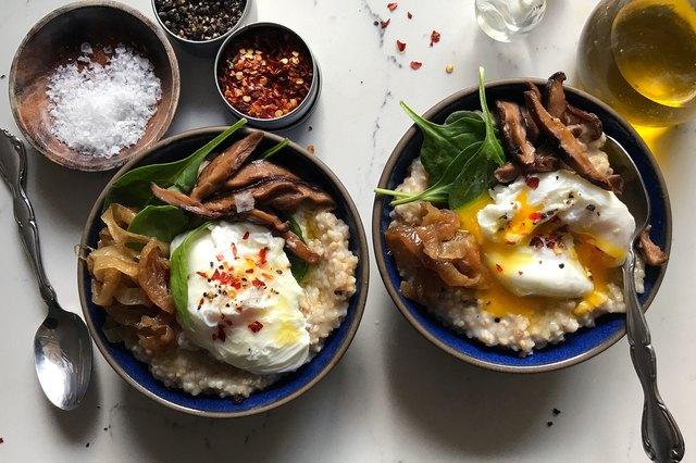 Savory Oatmeal With Eggs