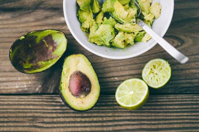avocados and limes to make guacamole
