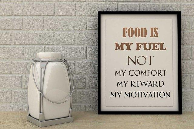 Food is Fuel not my comfort, reward, motivation.