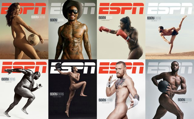 ESPN the Magazine Body Issue covers