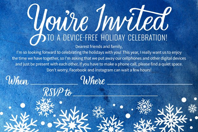 Started planning your holiday get-together? Use this free party invite.