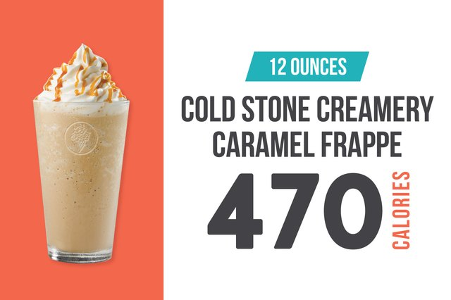 Cold Stone Creamery Caramel Frappe