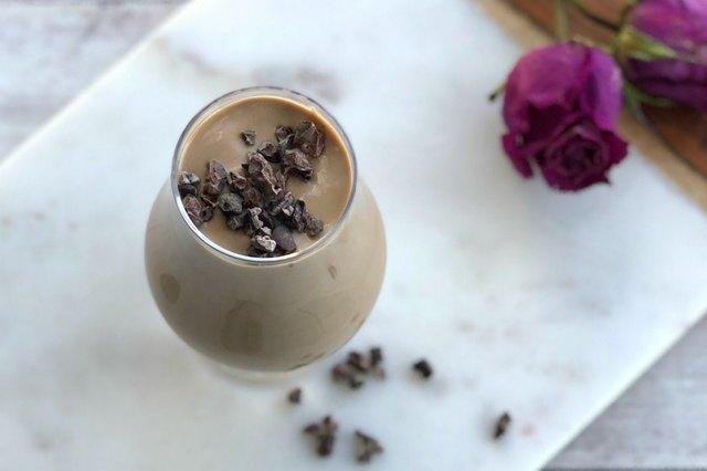 Cafe Mocha Shake With Cacao Nibs