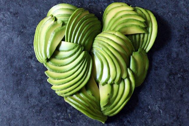 An avocado heart