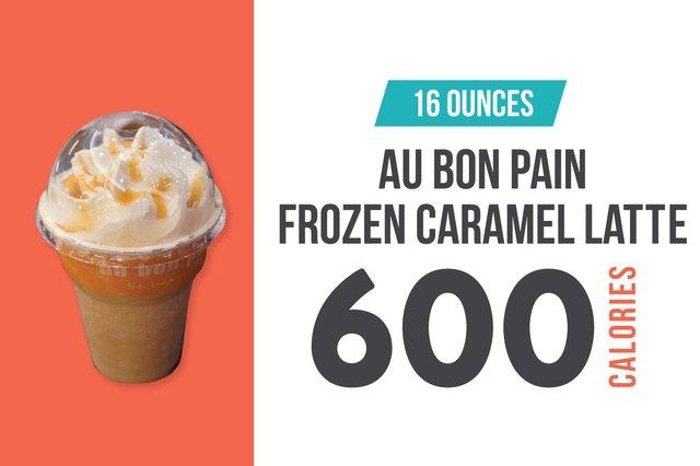 Au Bon Pain Frozen Caramel Latte