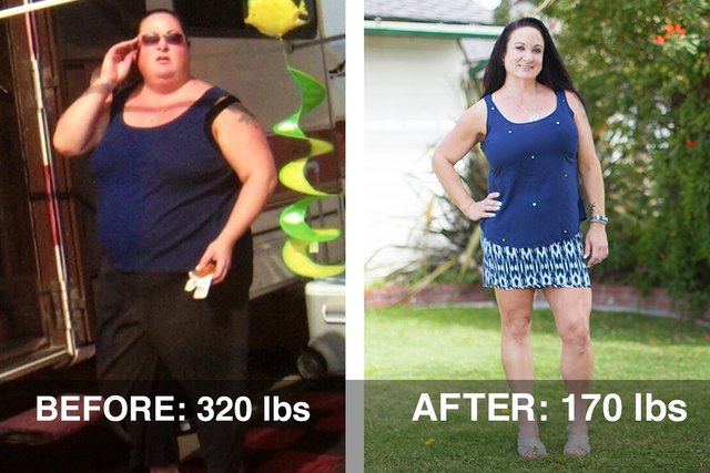 Stacy's weight-loss transformation