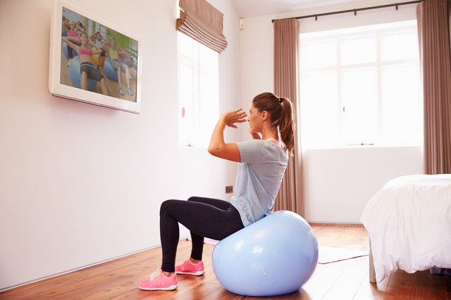 Exercise DVDs mean you can exercise in the privacy of your own home.