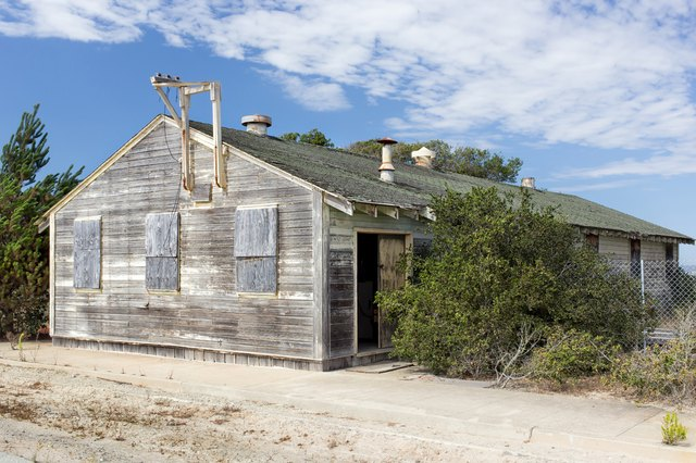 Abandoned building at historic Fort Ord