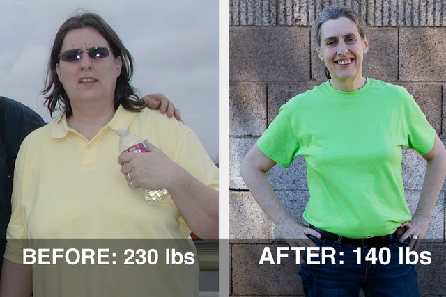 Teresa's transformation photo