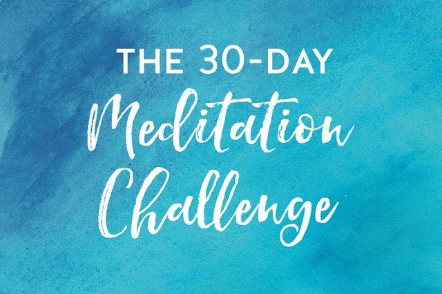 30-Day Meditation Challenge starts December 1!
