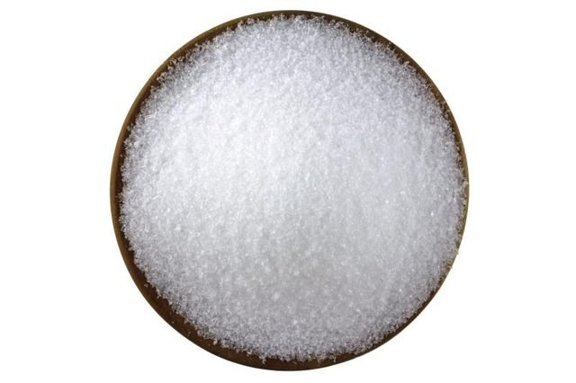 Top view of a bowl of Epsom salt