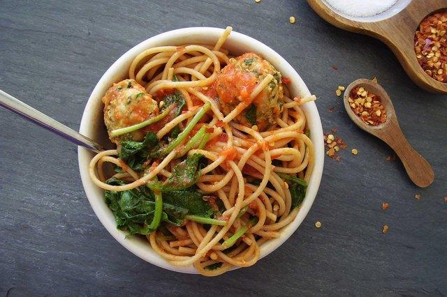 Power Pasta Bowl With Turkey-Kale Meatballs