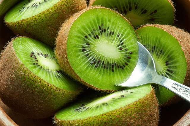 Kiwi is a low-calorie, fat-free fruit that's packed with vitamin C.