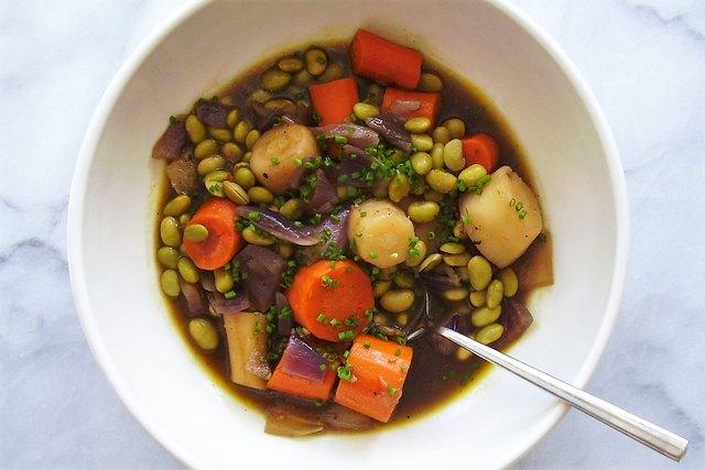 braised root vegetable entree