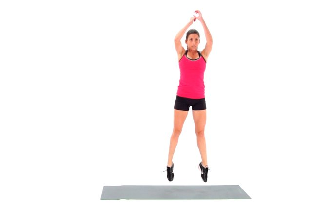 Proper form for a jump squat.