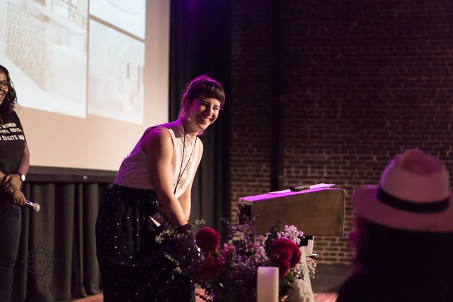 Jessica Koslow speaks at AWE at Wanderlust Hollywood on November 4, 2016.