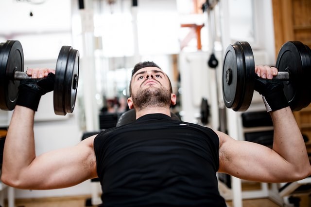 The dumbbell chest press is a foundational chest exercise.