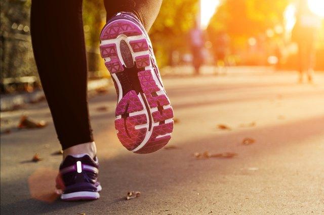 A runner's feet.