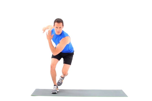 Proper form for speed skaters.