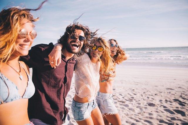People having fun in California