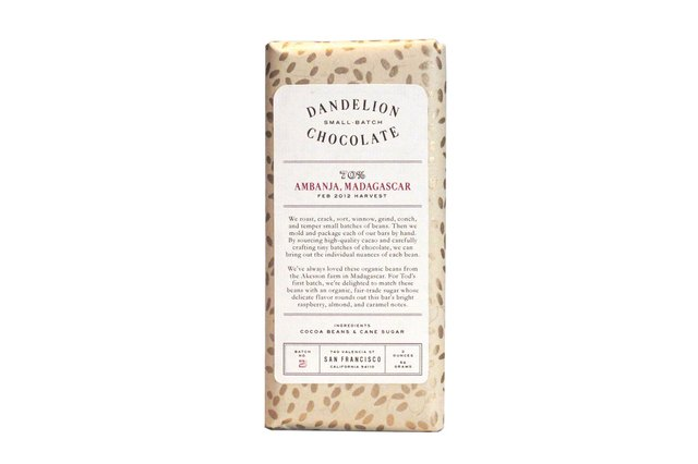 Dandelion Chocolate Clean Chocolate Bar