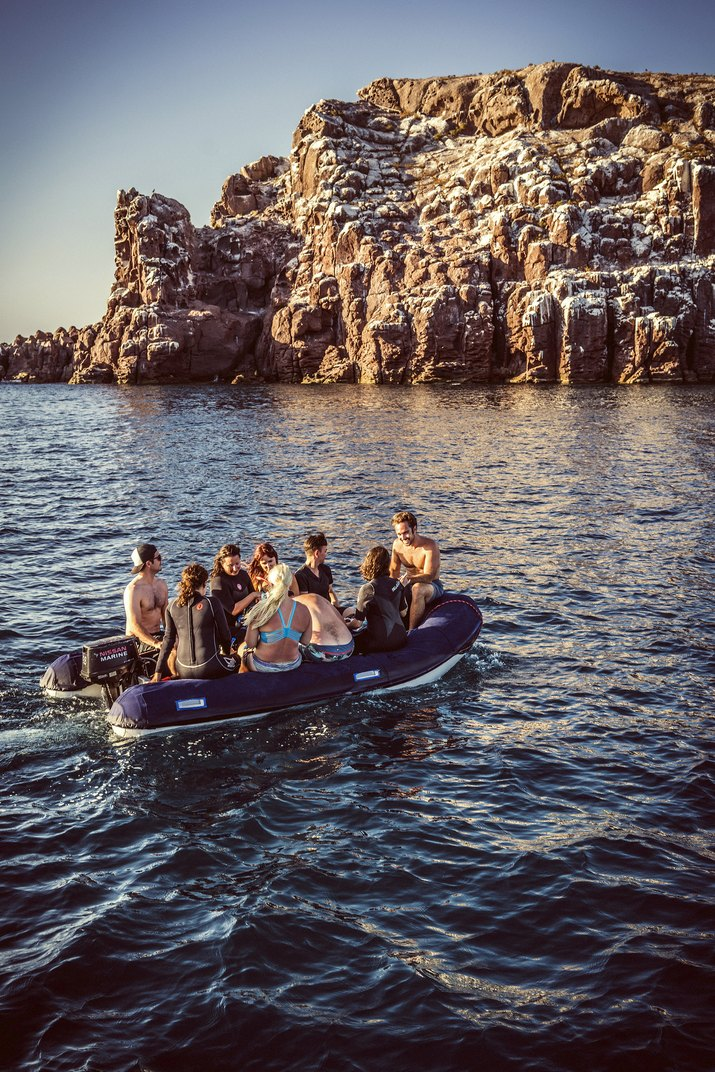 Team in the dinghy