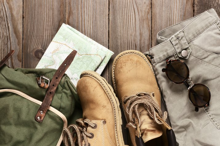 Hiking gear, shoes and clothes