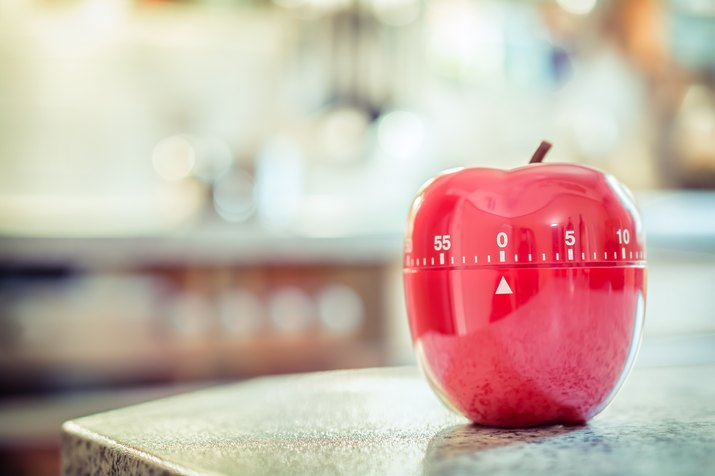 One hour - Red Kitchen Egg Timer In Apple Shape