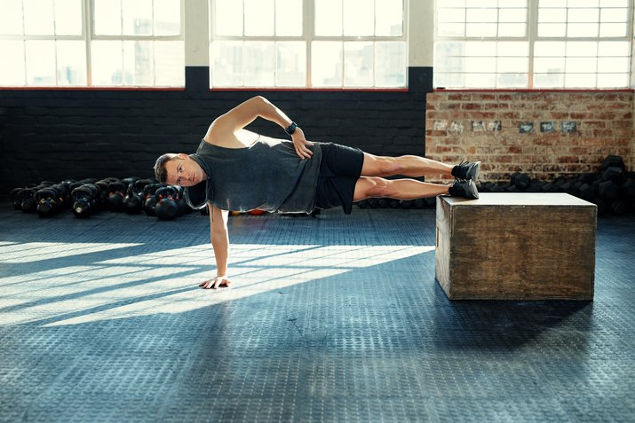 man training to break world record for planking