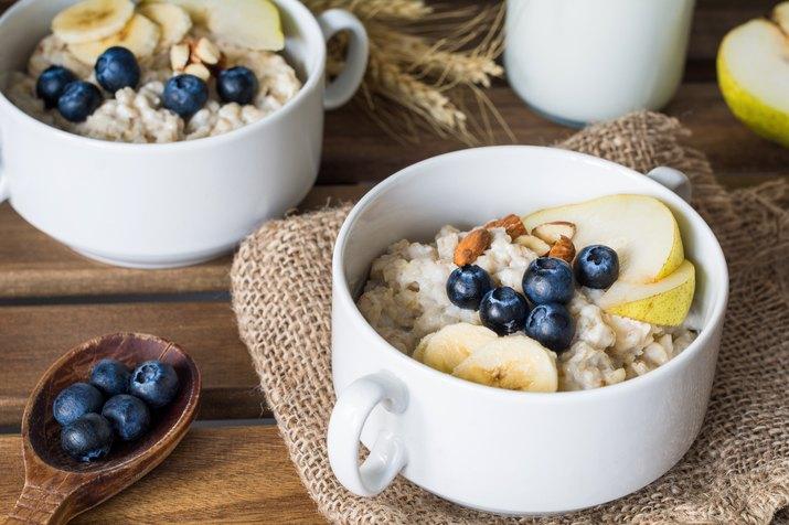 Oatmeal porridge, healthy breakfast food
