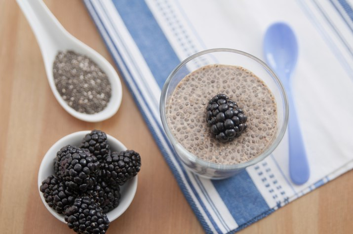 Chia Seed Pudding with blackberries
