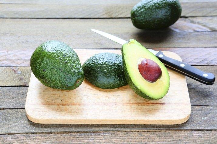 Avocado whole and sliced